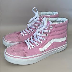 Pink classic vans high top shoes women's 6.5